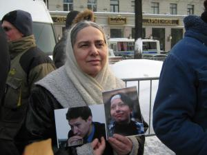 Sannikova, Lena with photos of Markelov and Baburova